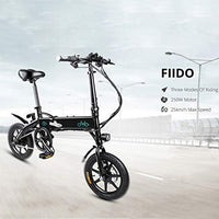 OUXI FIID0 D1 Electric Bike,Folding Electric Bike for Adults 10.4Ah 250W 36V with LCD Screen 14inch Tire Lightweight 17.5kg/38.58lbs Suitable for Men Women City Commuting(Black)