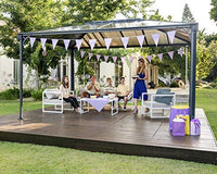Palram Martinique Grey Garden Gazebo - Robust Structure for Year-Round Use (4300)