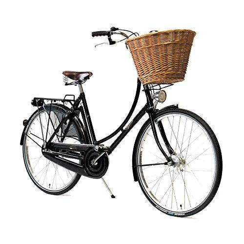 'Pashley Princess Sovereign – Lady Bicycle Retro British Made Timeless Elegance – The Top For You – Shopping and is with – 8 Speed Hub Gear – Frame 20 Black Classic Retro Regal, Black