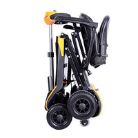 Remote Control Auto-Folding Portable Leightweight Electric Mobility Scooter, VAT Relief Available-Please Ask, 180W DC24V Motor, 25Km/15.5Miles Range, Double Lithium Battery by KWK (Yellow)
