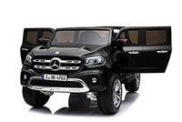 Ricco Mercedes Benz Licensed 4x4 Kids Electric Ride On Car with Remote Control LED Lights and Music (XMX606) (BLACK)