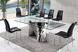 SimplyBedzzz RITZ GLASS DINING TABLE