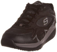 Skechers Men's Shape-Ups Xt Black Leather/Mesh/Charcoal Trim Lace Up 52007 12 UK