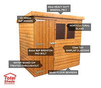 Total Sheds 6ft (1.8m) x 5ft (1.5m) Shed Pent Shed Garden Shed Timber Shed