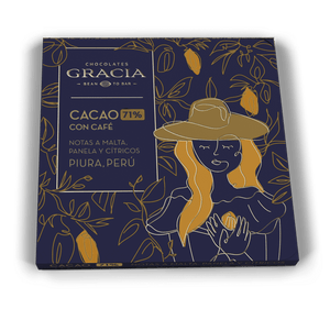 Chocolate 71% Cacao con Café - Chocolates Gracia