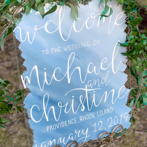 Vertical Acrylic Welcome Sign