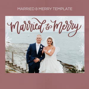 Merry & Bright Card Overlay