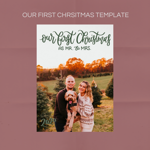 Our First Christmas Card Overlay
