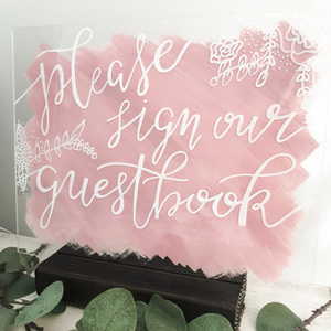 Sign Our Guestbook Acrylic Sign