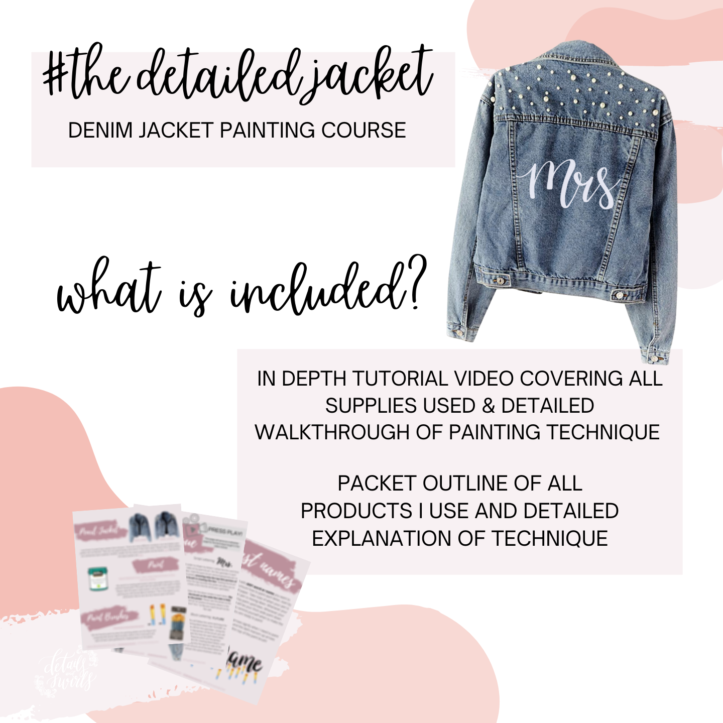#TheDetailedJacket - Jacket Painting Course