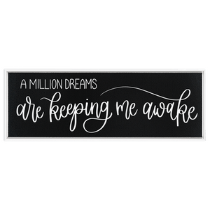 A Million Dreams Framed Black Canvas Print
