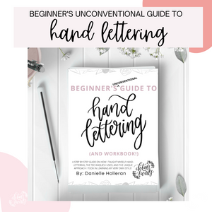 Beginner's Hand Lettering Workbook (PDF DIGITAL DOWNLOAD)