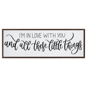 Little Things Framed Canvas Print