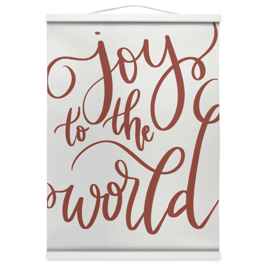 Joy To The World Hanging Canvas