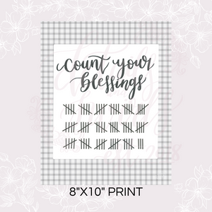 Printable Count Your Blessings Sign