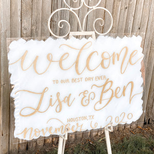 Horizontal Acrylic Welcome Sign