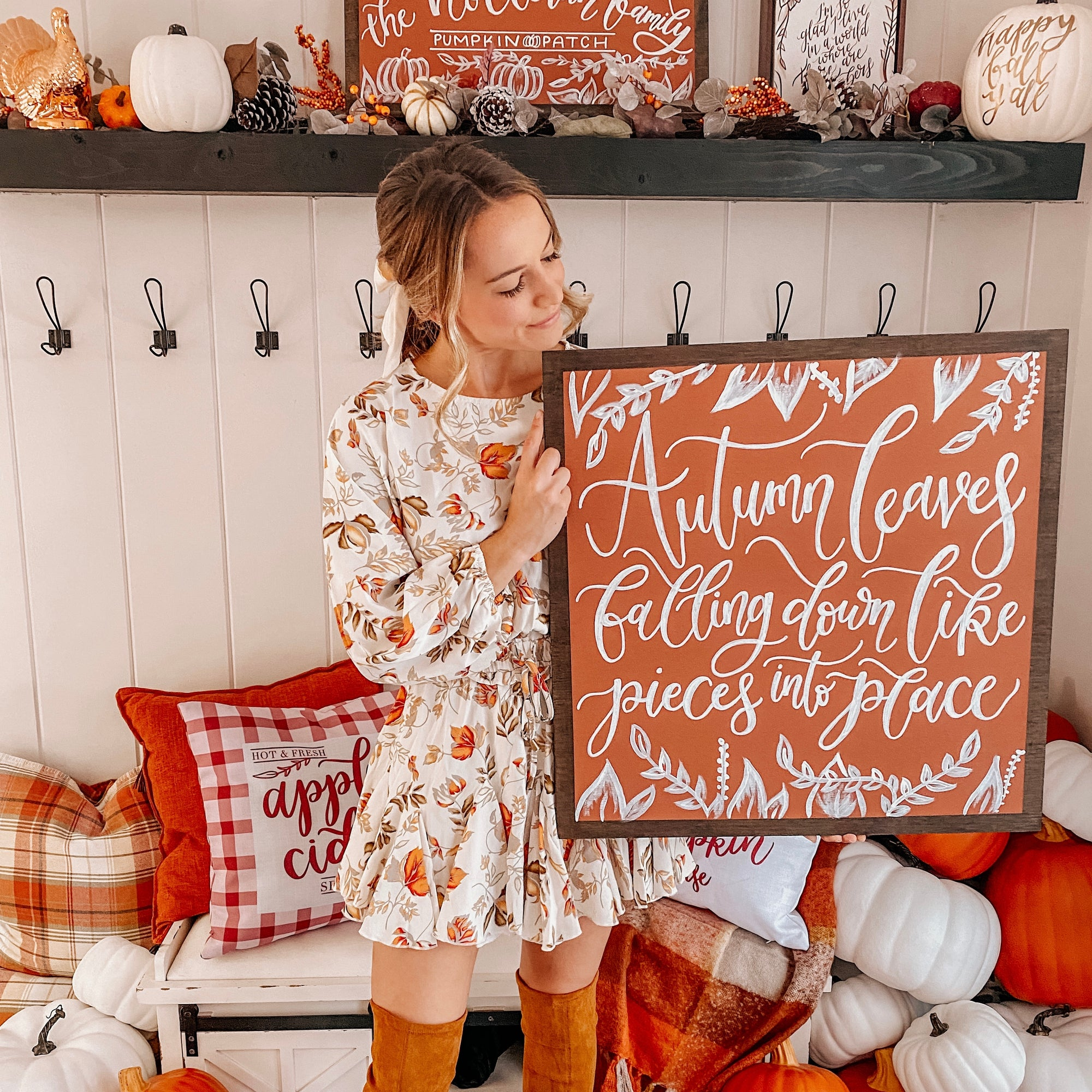 Custom Fall Quote Sign