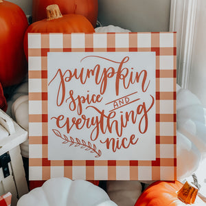 Pumpkin Spice Canvas