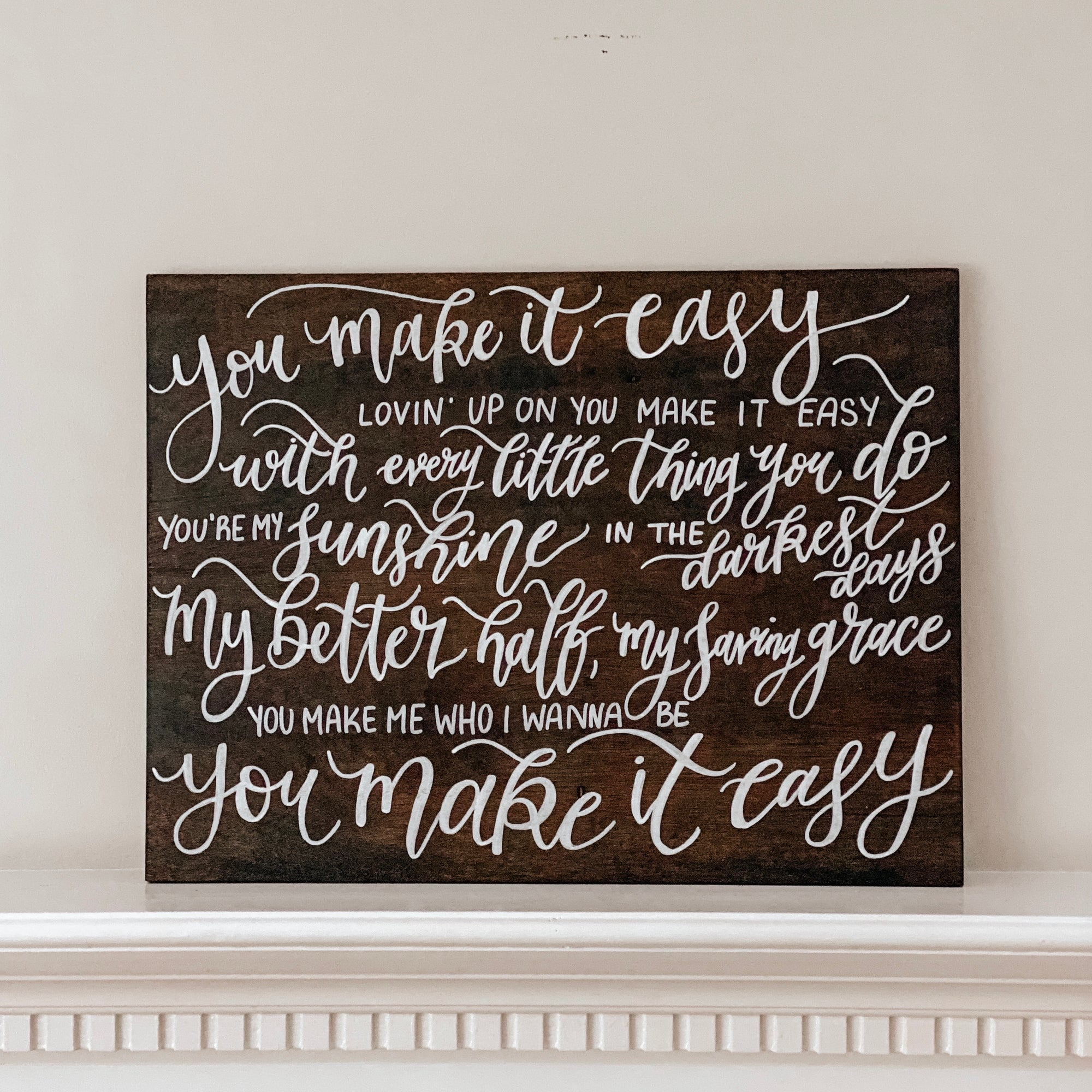 Custom Wooden Sign - PRINT/SCRIPT MIX