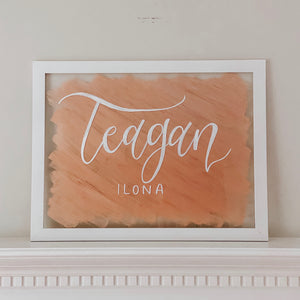 Baby Name Framed Acrylic Sign