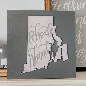 Laser Cut State Sign