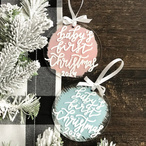 Round Acrylic Christmas Ornaments