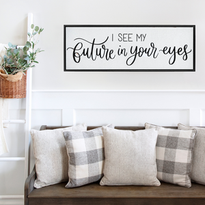 Future In Your Eyes Framed Canvas Print