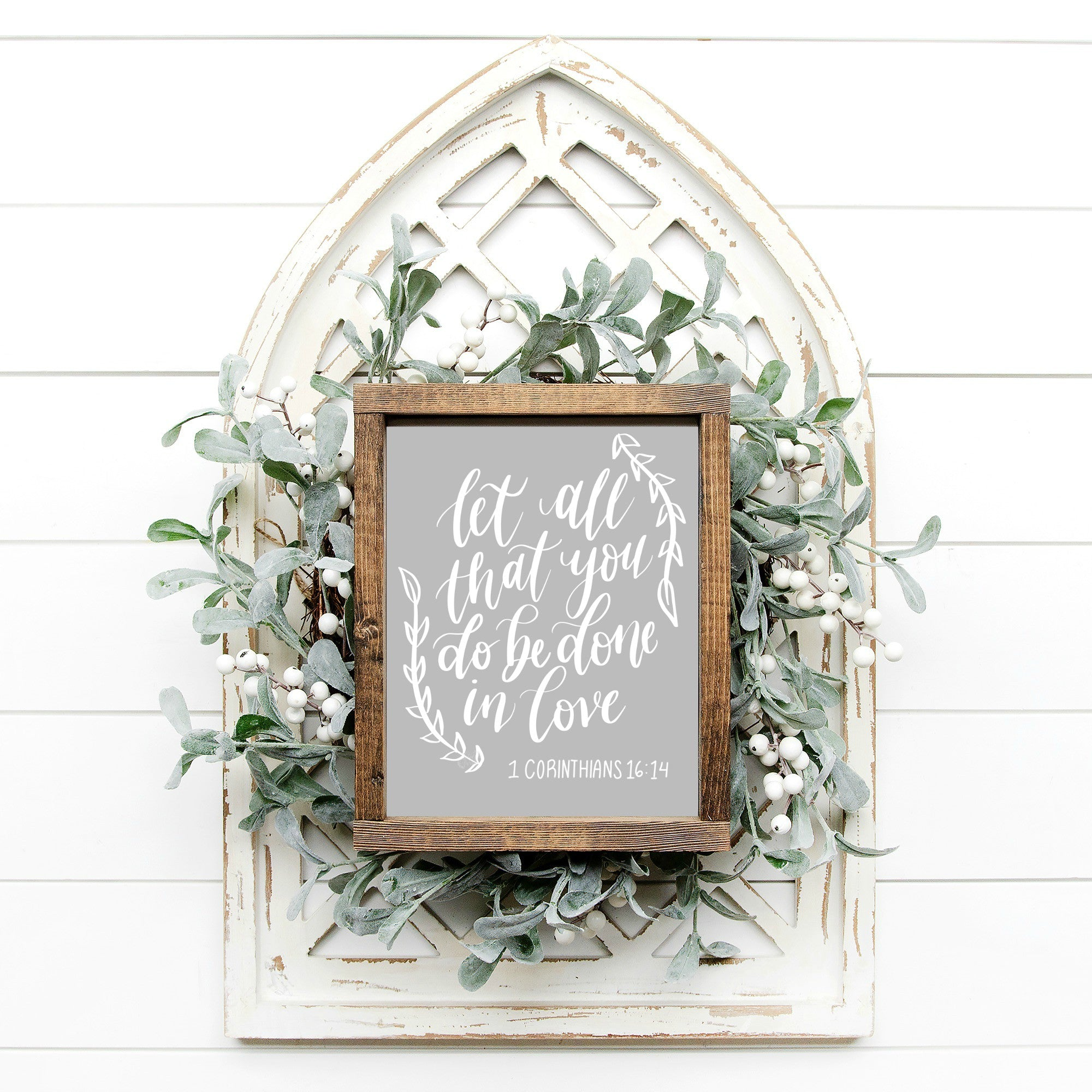 Printable Done In Love Sign