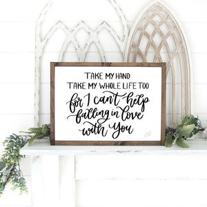 Printable Falling In Love With You Sign