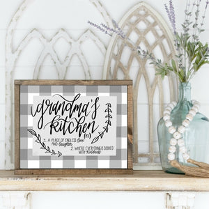 Printable Grandma's Kitchen Sign