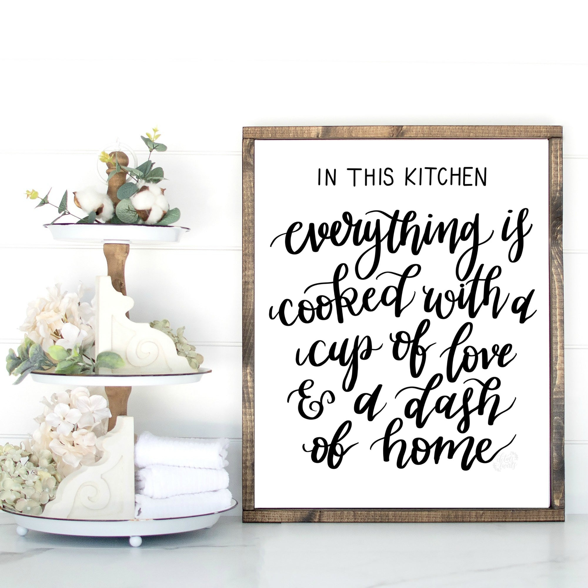 Printable In This Kitchen Sign