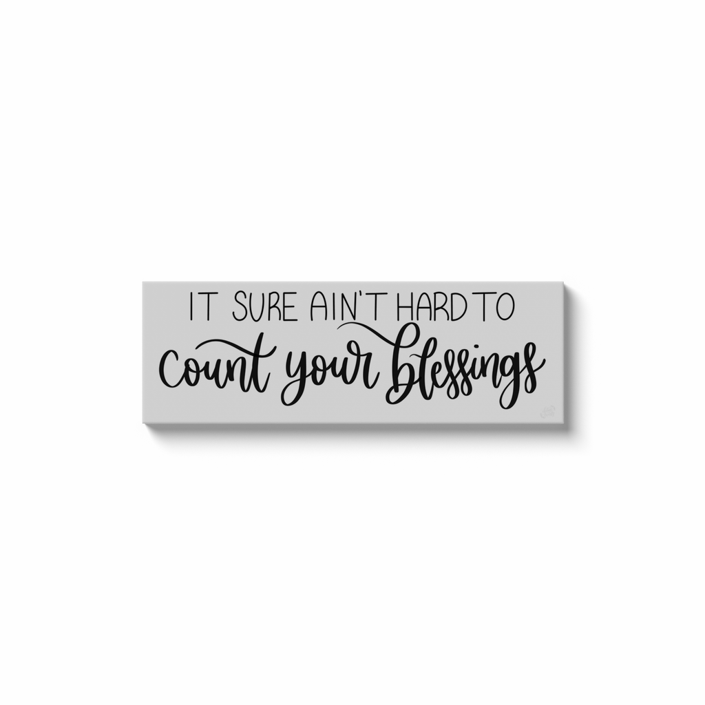 Count Your Blessings Canvas Pring