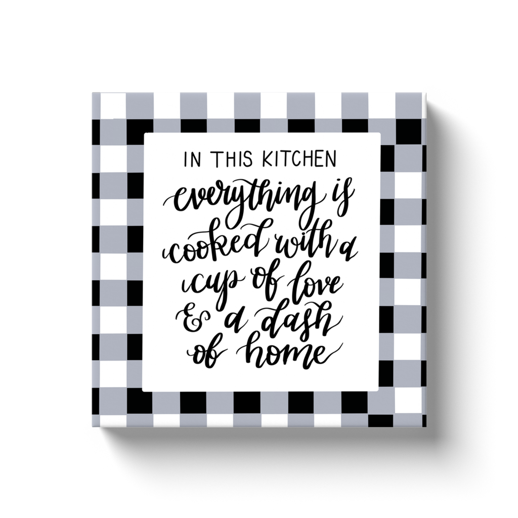 Cooked With Love Canvas Sign