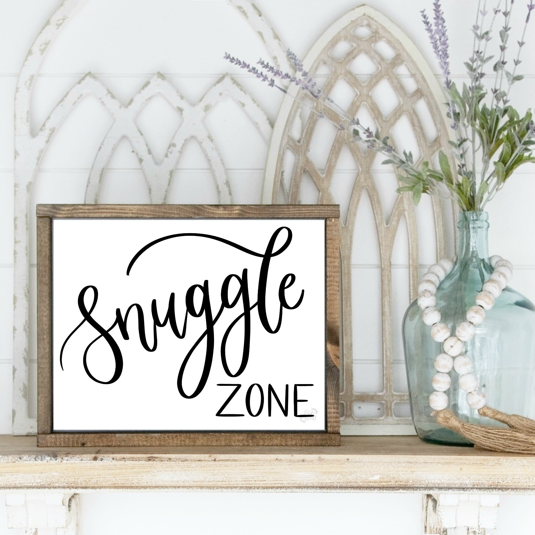 Printable Snuggle Zone Sign