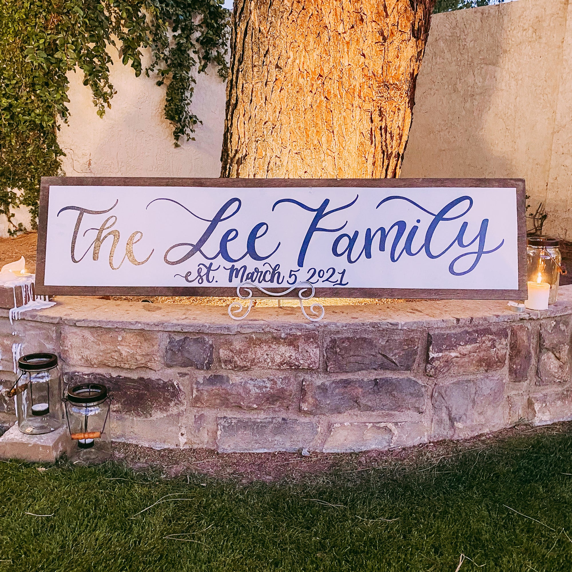 Large Family Name Sign