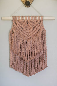 Dusty Rose Macrame Wall Hanging