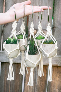 Mini Macrame Car Plant Hanger