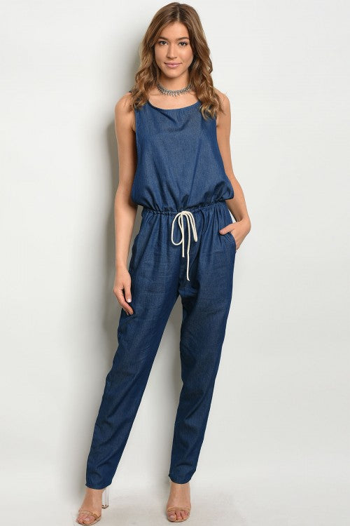 Dark Denim Jumpsuit