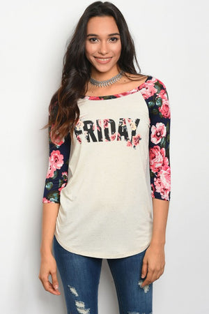 "Floral ""Friday"" Top"