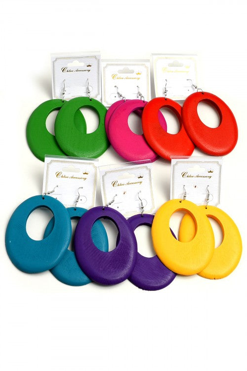 Colorful Cut Out Hoop Earrings