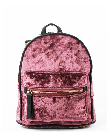 Velvet Trendy Fashion Backpack