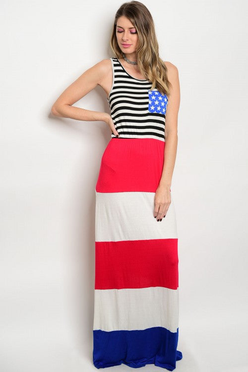 American Dream Girl Maxi Dress (Next Day Shipping)