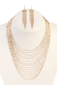Gold Earring & Necklace Set