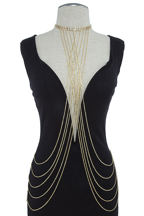Crystal Accented Body Chain