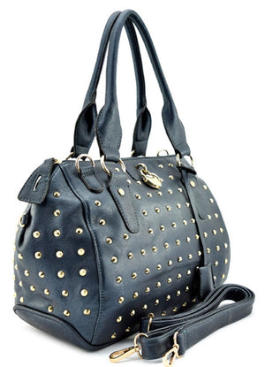 Stud Embellished Ornament Satchel