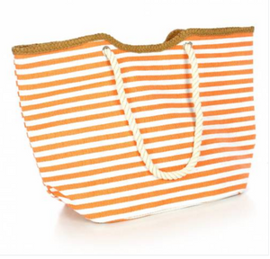 Large Striped Beach Bag