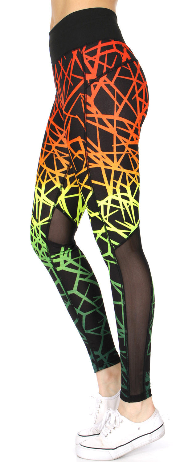 Rainbow Mesh Active Wear