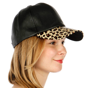 Leopard Leather Hat