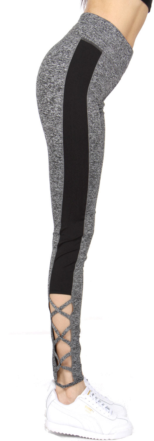 Lace-Up Detail Active Wear