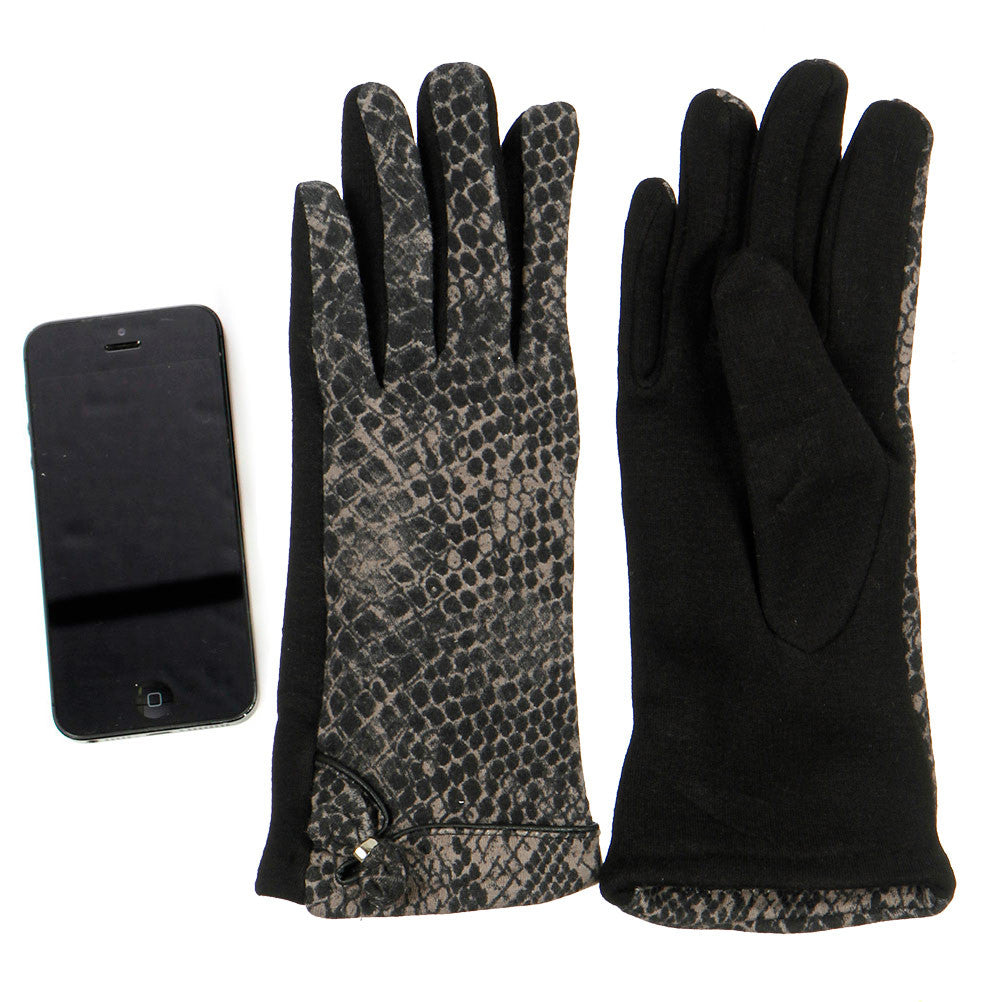 Snake Skin Pattern Gloves